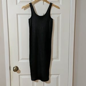 ZARA wax coated ribbed dress